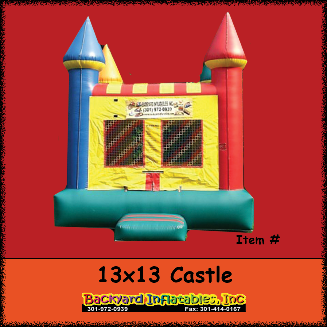 castle moon bounce 13x13 backyard inflatables