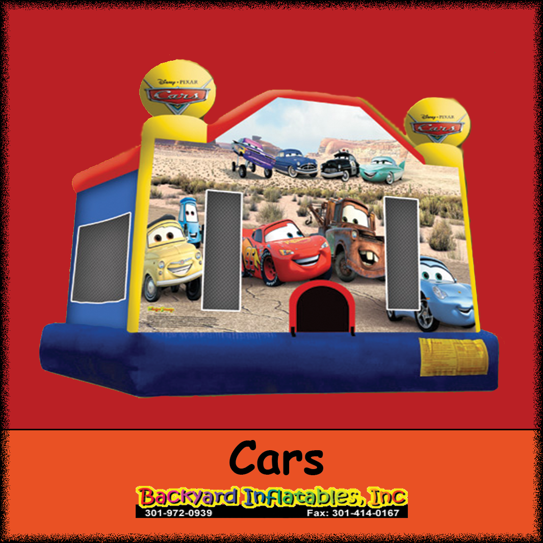 cars moonbounce backyard inflatables