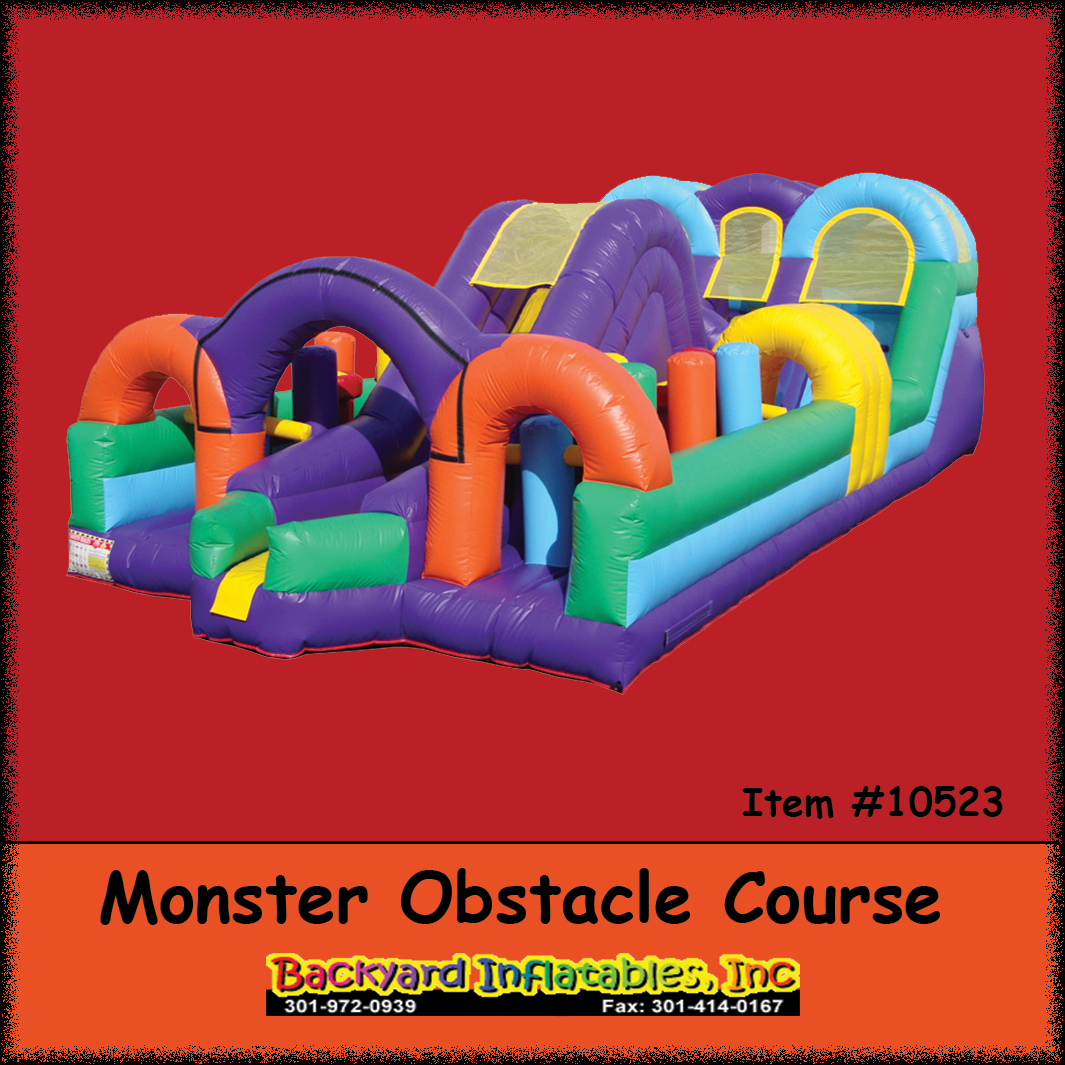 monster obstacle course backyard inflatables