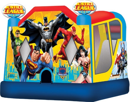 Justice League Moonbounce with slide