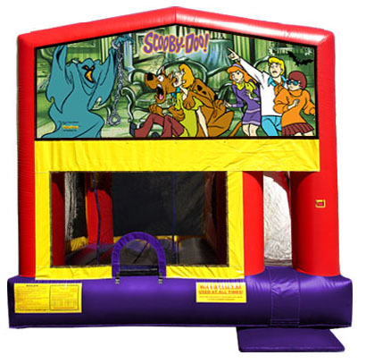 Scooby Doo moon bounce with slide
