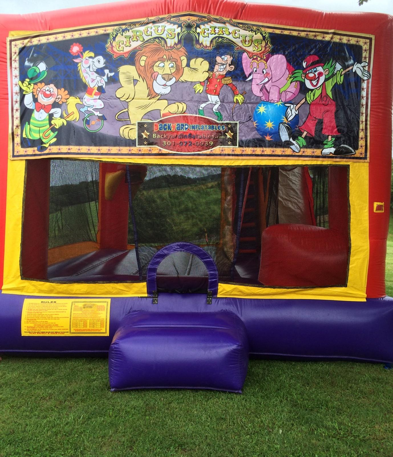 Circus Moon Bounce with slide