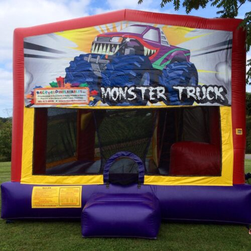 Monster truck Moon Bounce with slide