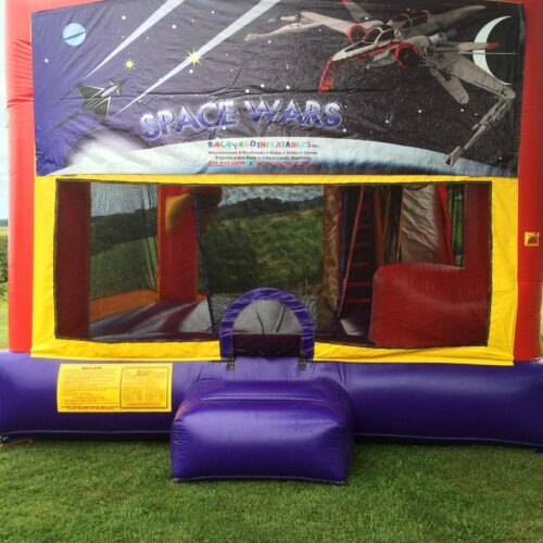 Space Wars moon bounce with slide