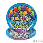 happy birthday plates