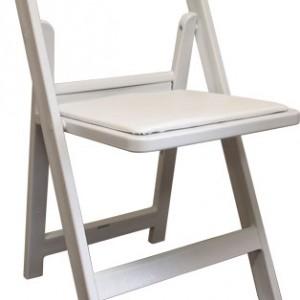 whitepaddedchairs
